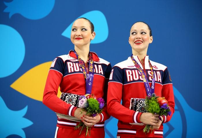 Синхронистки Валерия Филенкова и Дарья Кулагина. Фото: Richard Heathcote/Getty Images for BEGOC