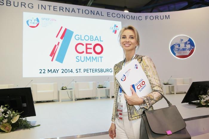 Немецкая принцесса и предприниматель Коринна Сайн-Витгенштейн на Санкт-Петербургском международном экономическом форуме, 22 мая, 2014 год. Фото: Slava Korolev via Getty Images