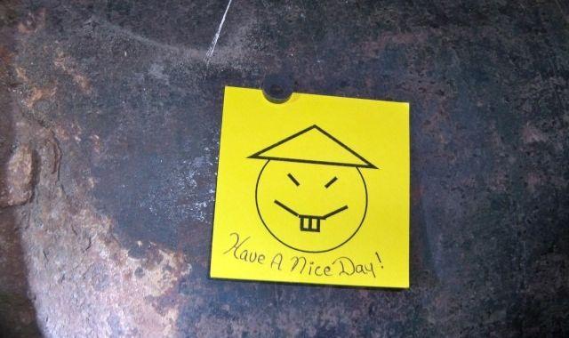 """Записка, оставленная сбежавшими заключёнными, гласит: """"Хорошего дня!"""" Фото: mashable.com"""
