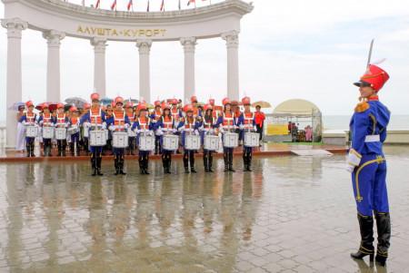 Концертная программа под Ротондой на набережной Алушты. Фото: Алла Лавриненко/Великая Эпоха