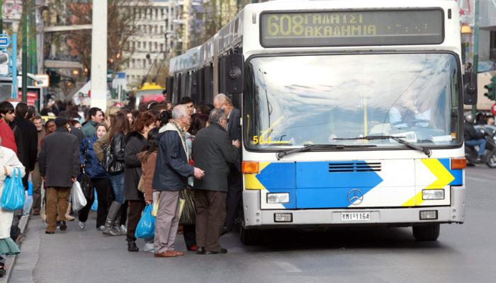 Автобусы в Афинах неделю будут возить пассажиров бесплатно