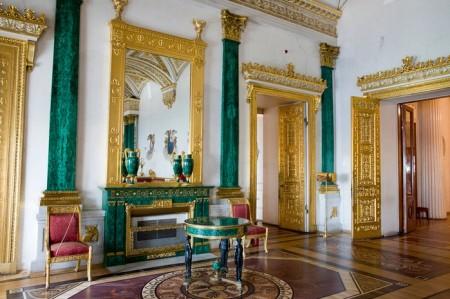 Малахитовый зал в Эрмитаже. Фото: liveinternet.ru