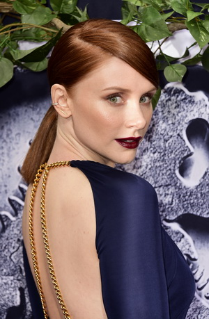 "HOLLYWOOD, CA - JUNE 09:  Actress Bryce Dallas Howard attends the Universal Pictures' ""Jurassic World"" premiere at Dolby Theatre on June 9, 2015 in Hollywood, California.  (Photo by Frazer Harrison/Getty Images)"