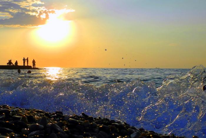 Галечный пляж «Толстяк». Фото: Лавриненко Алла/Великая Эпоха