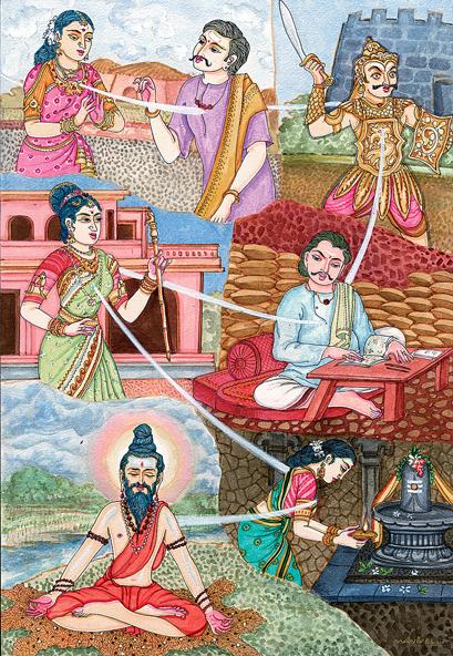 Иллюстрация реинкарнации. Фото: Anantashakti/commons.wikimedia.org