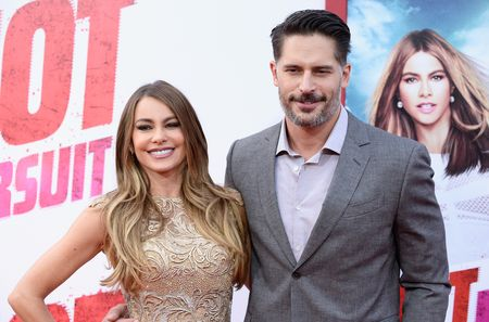 "HOLLYWOOD, CA - APRIL 30:  Actress Sofia Vergara (L) and actor Joe Manganiello attend the Premiere of New Line Cinema And Metro-Goldwyn-Mayer's ""Hot Pursuit"" at TCL Chinese Theatre on April 30, 2015 in Hollywood, California.  (Photo by Frazer Harrison/Getty Images)"