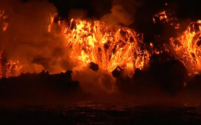 Вулкан Вольф, Галапагосы, лава, извержение, Эквадор