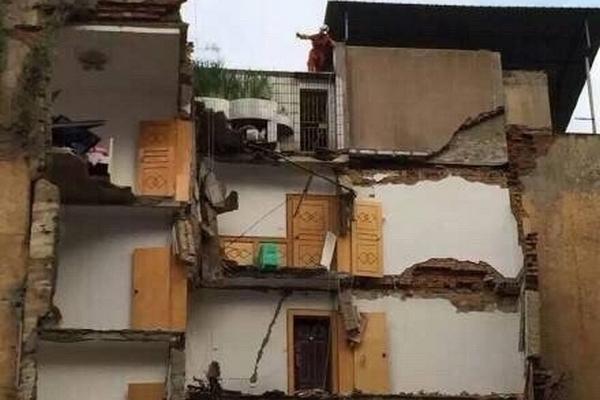 За месяц в китайской провинции Гуйчжоу рухнули 3 жилых дома. Фото с epochtimes.com