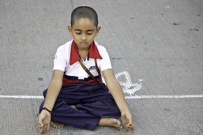 Международный День йоги отметили в Индии. Фото: Татьяна Виноградова/Великая Эпоха