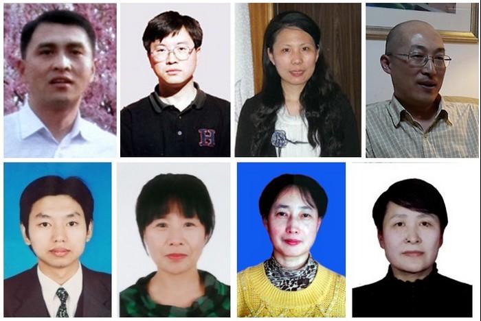 Некоторые из сторонников Фалуньгун, арестованных в Китае в мае 2015 года. Источник: minghui.org