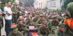 В Китае протестуют тысячи ветеранов войны