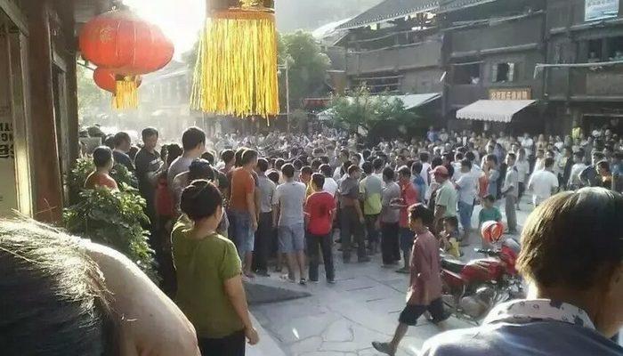 Стычки местных жителей с полицией произошли в древнем китайском посёлке