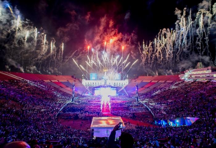 Церемония открытия Всемирных специальных Олимпийских игр.Фото: ROBYN BECK/AFP/Getty Images