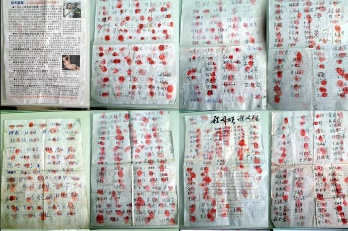 Люди по всему Китаю подписывают петицию против извлечения органов. Фото: minghui.org