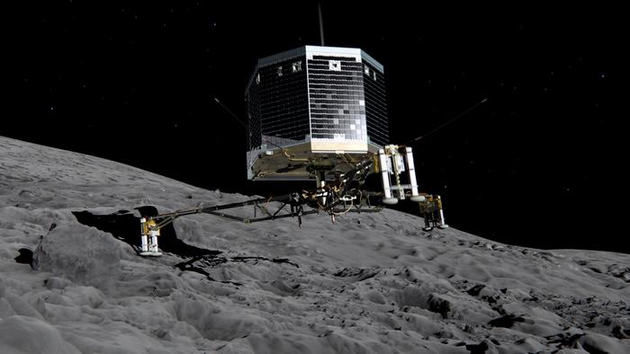 Модуль «Фила» на комете «Чурюмова-Герасименко». Фото: ESA via Getty Images