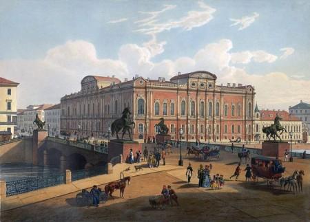 Аничков мост в XIX веке. Фото: en.wikipedia.org