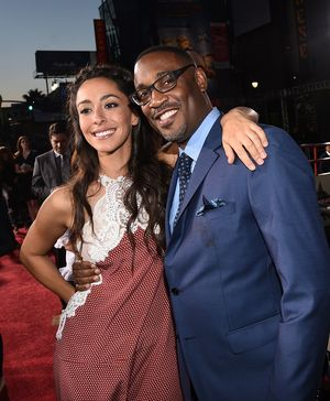 "HOLLYWOOD, CA - APRIL 06:  Actress Oona Chaplin (L) and director George Tillman Jr. attend the premiere of Twentieth Century Fox's ""The Longest RIde"" at the TCL Chinese Theatre IMAX on April 6, 2015 in Hollywood, California.  (Photo by Michael Buckner/Getty Images)"