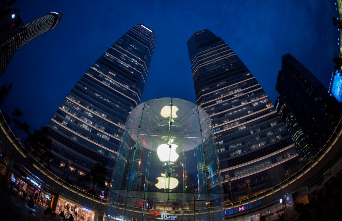 Магазин Apple в Шанхае, 16 октября 2014 года. Фото: JOHANNES EISELE / AFP / Getty Images