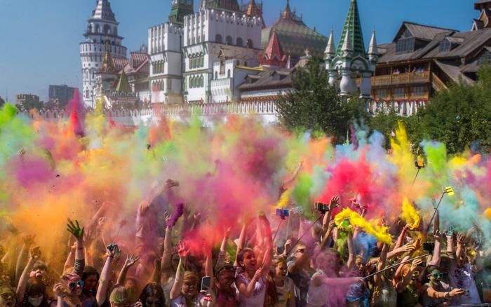Россия, Москва, Фестиваль красок, фестивали, фото дня