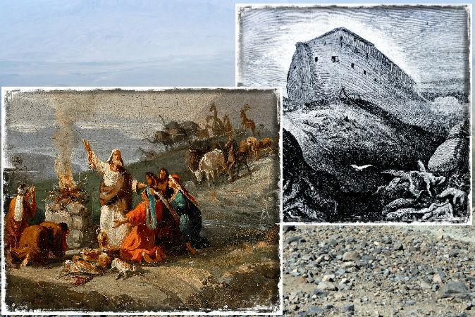 Слева: «Ной после потопа», картина Доменико Морелли, 1901 год (Wikimedia Commons). Справа: гравюра «Ноев ковчег» (Shutterstock *) Справочная информация: гора Агри (Арарат), самая высокая гора в Турции, где мог находиться Ноев ковчег. (Shutterstock *)