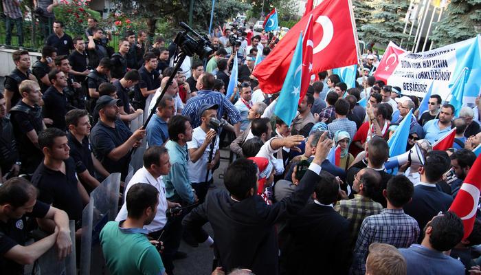 В Турции прошла акция протеста против притеснений уйгуров в Китае (видео)