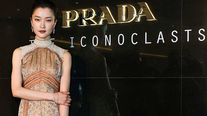 Актриса Ду Цзюань посетила мероприятие фирмы Prada в Пекине, 22 апреля 2015 г. Фото: Keith Tsuji/Getty Images for Prada