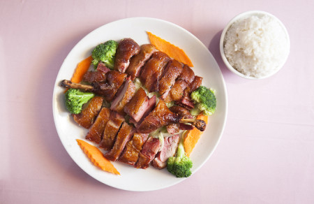 Tea-smoked duck at Famous Sichuan restaurant in New York City, April 23, 2014. (Samira Bouaou/Epoch Times)