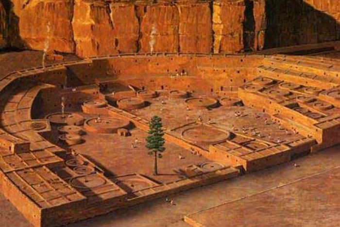 Цифровая реконструкция каньона Чако. Фото: Saravask via wikimedia commons