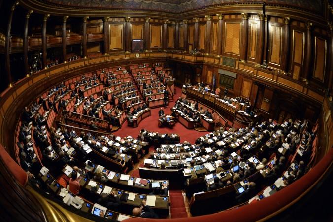 Верховная палата парламента Италии, 22 апреля 2015 г. Фото: Andreas Solaro/AFP/Getty Images