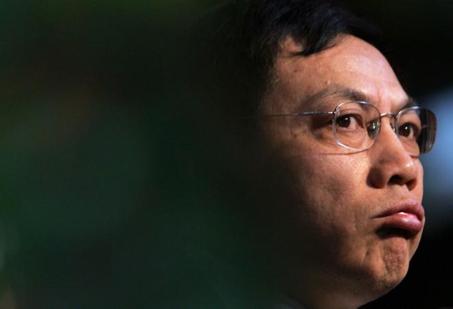 Жэнь Чжицян, китайский бизнесмен и популярный блогер, выступает с речью в провинции Сычуань, Китай, 7 января 2006 года. Фото: China Photos/Getty Images