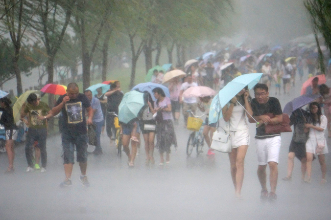 китай тайфун фото