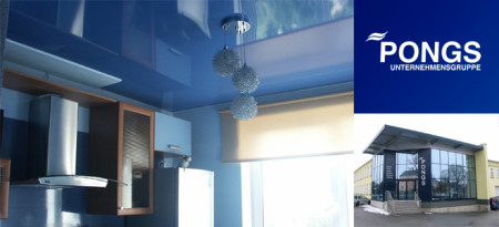 Натяжная плёнка на потолке от фирмы Pongs — das Beste. Фото: genvik.ru