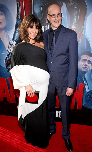 """LOS ANGELES, CA - JUNE 29:  Actress Evangeline Lilly (L) and director Peyton Reed attend the world premiere of Marvel's """"Ant-Man"""" at The Dolby Theatre on June 29, 2015 in Los Angeles, California.  (Photo by Jesse Grant/Getty Images for Disney)"""