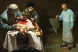 Насильственное извлечение органов в Китае у сторонников Фалуньгун. Рисунок: Xiqiang Dong 2007/FalunArt.org