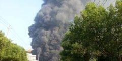 Очередной взрыв на химическом заводе в Китае