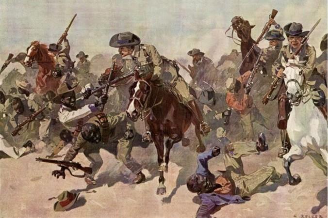 Уничтожение немцами людей племени гереро. Фото: Uitkomst by Carl Becker