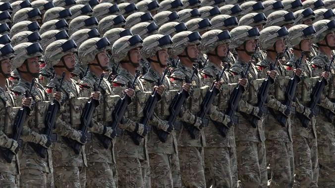 ролик про войну, военный парад в Китае