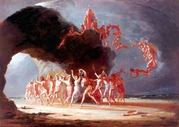 Феи, танцующие в кольцах. Картина Ричарда Дадда, 1842 г.