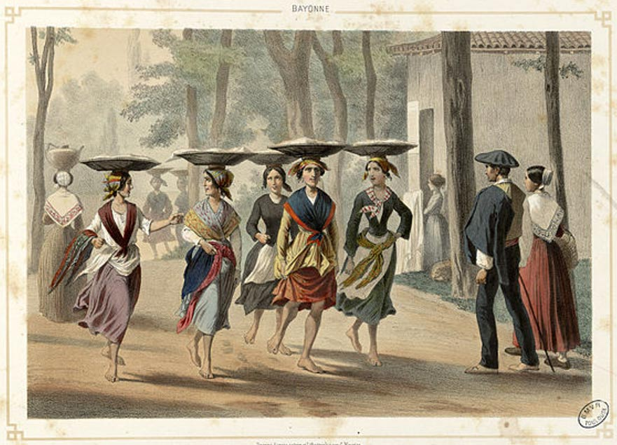 Баскские женщины в Байонна (1852 г.). Фото: Wikimedia Commons