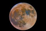Лунное затмение, суперлуние, Луна, Земля