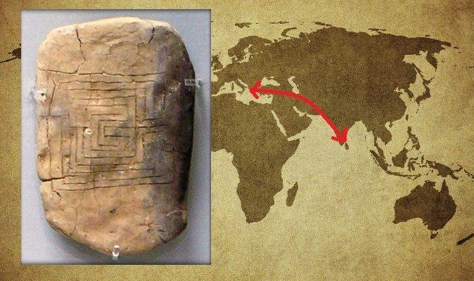 В Индии найден 2000-летний лабиринт с древнегреческой табличкой