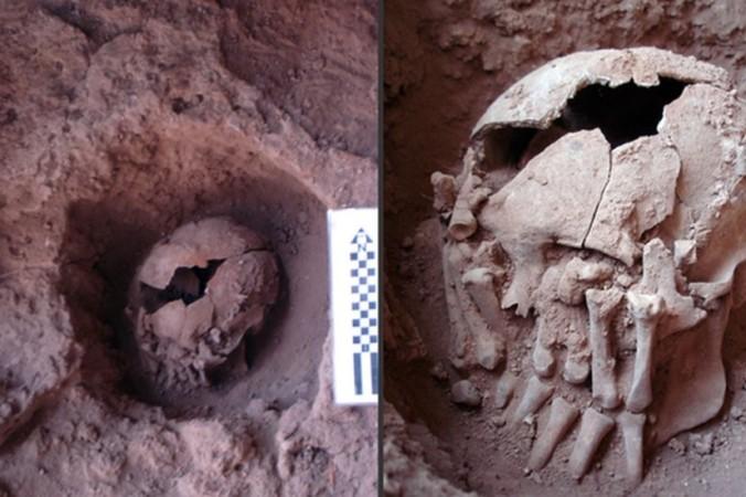 Археологи обнаружили череп человека, обезглавленного 9 000 лет назад, в пещере Лапа до Санто в Бразилии. Фото: André Strauss