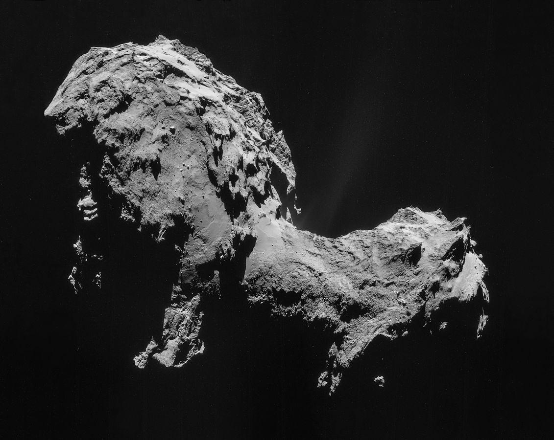 Комета Чурюмова-Герасименко. Фото: ESA/Rosetta/NAVCAM