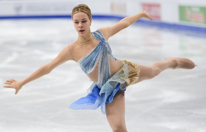Российская фигуристка Анна Погорилая. Фото: JONATHAN NACKSTRAND/AFP/Getty Images