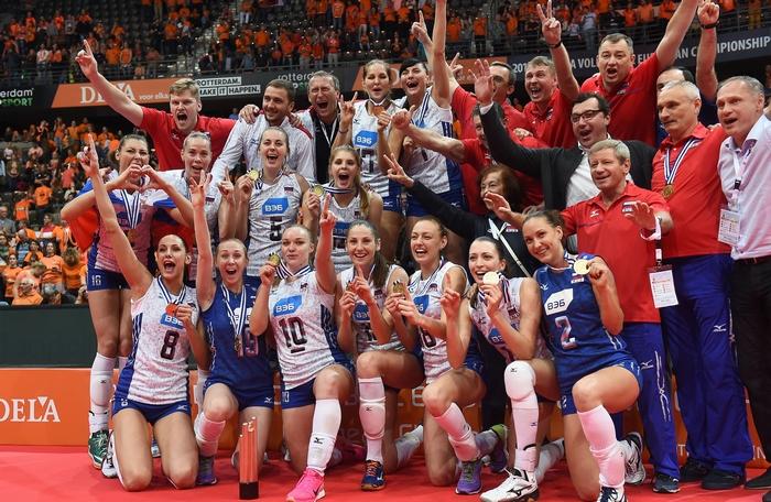 Сборная РФ по волейболу. Фото: EMMANUEL DUNAND/AFP/Getty Images