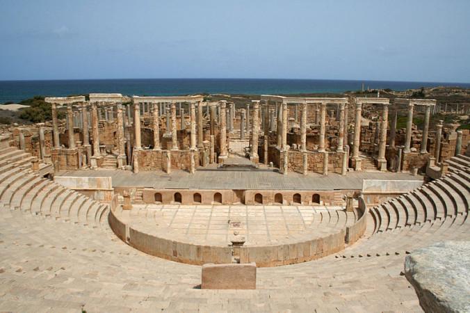 Древний город Лептис-Магна. Фото: Daviegunn/Wikimedia commons