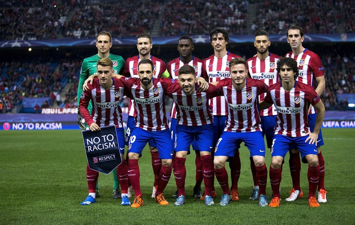 Команда «Атлетико» перед матчем с «Астаной». Фото: Gonzalo Arroyo Moreno/Getty Images