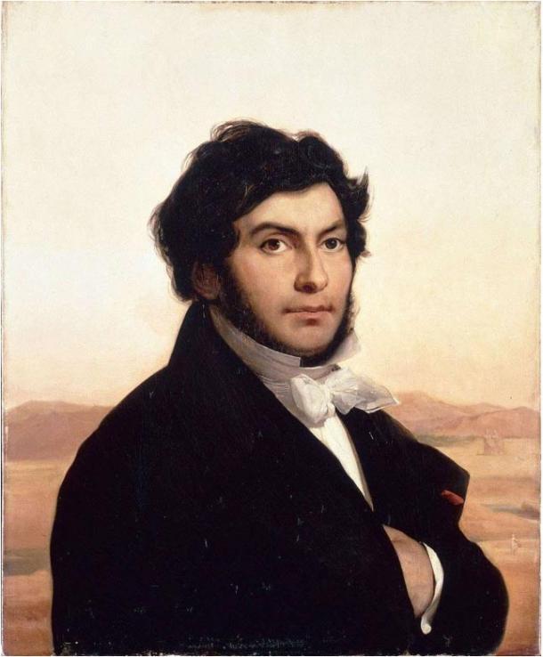 Портрет Жана-Франсуа Шампольона, написанный Леоном Конье. Фото: Wikimedia Commons