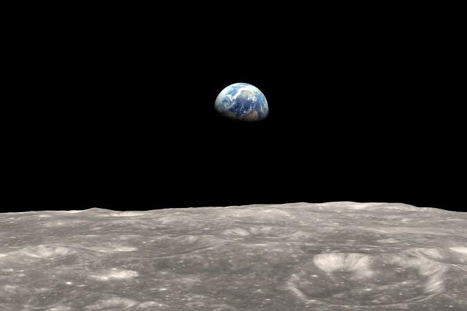 Вид с Луна на Землю. Фото: nasa.gov