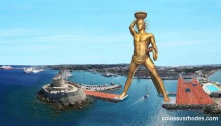 Планируемая реконструкция Колосса Родоского на греческом острове Родос.